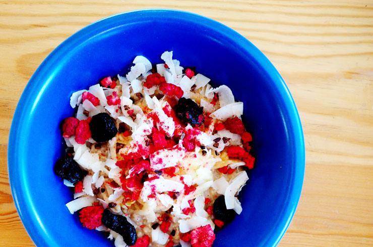 Veganes Porridge. Ohhhsorelaxed.com