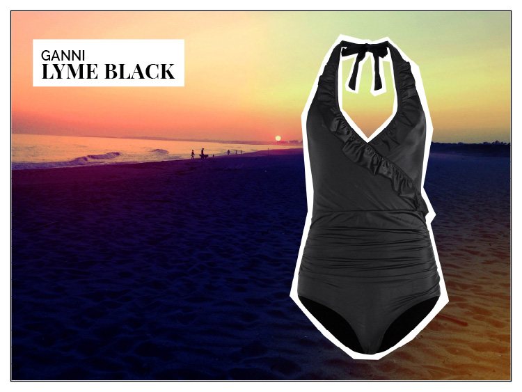 Ohhh... so relaxed Bademoden Special. Ganni Lyme One Piece