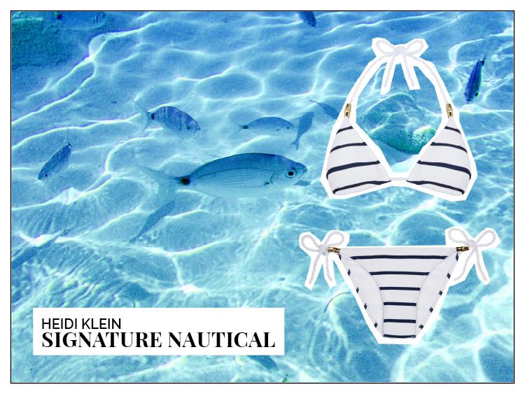 Ohhh... so relaxed Bademoden Special. Heidi Klein Signature Nautical Bikini