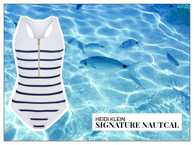 Ohhh... so relaxed Bademoden Special. Heidi Klein Signature Nautical racer Back