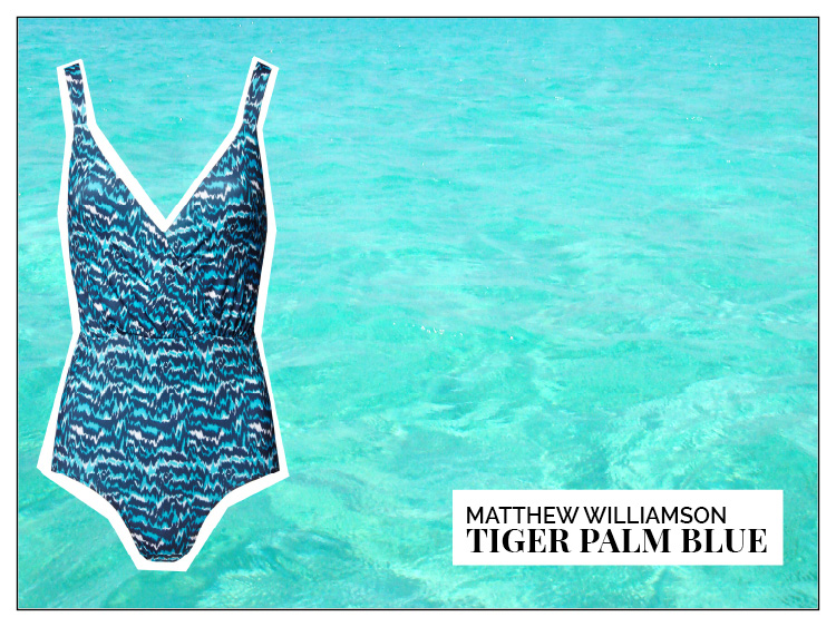 Ohhh... so relaxed Bademoden Special. Matthew Williamson Tiger Palm Blue One PIece