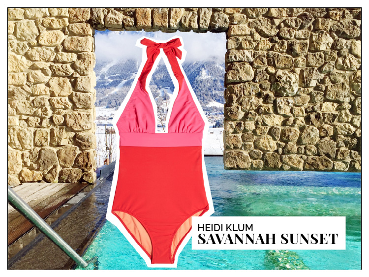 Ohhh... so relaxed Bademoden Special. Heidi Klum Savannah über stylebop.com