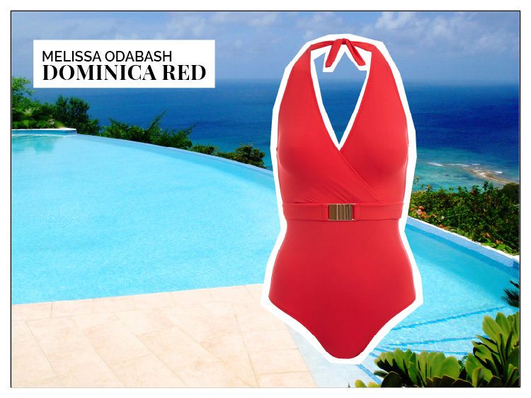 Ohhh... so relaxed Bademoden Special. Melissa Odabash Dominica Red